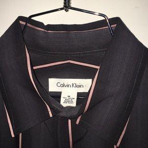 Calvin Klein - M French Cuffs Faded Grey w/ Pink
